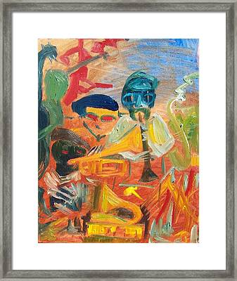Classic Jazz Motif Framed Print by James Christiansen