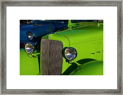 Classic Lime Green Car Framed Print