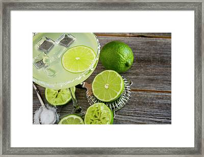 Framed Print featuring the photograph Classic Lime Margarita by Teri Virbickis