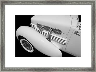 Old Car Framed Print featuring the photograph Classic Lines by Aaron Berg