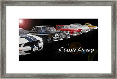 Classic Lineup Framed Print by David and Lynn Keller