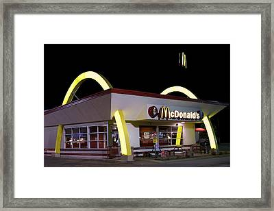 Classic Mcdonalds Framed Print