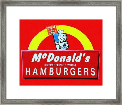 Classic Mcdonald's Hamburgers - Billion Served - Painterly Framed Print by Wingsdomain Art and Photography