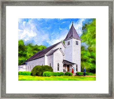 Classic Methodist Church - Oglethorpe Georgia Framed Print