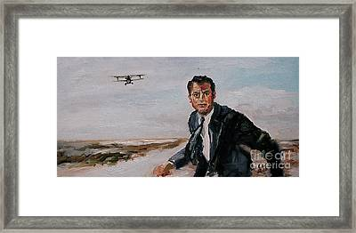 Classic Movies Cary Grant North By Northwest Framed Print by Ginette Callaway