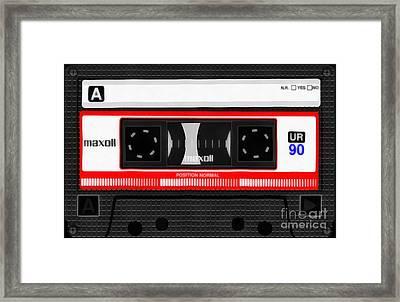 Classic Music Cassette Tape Painting Framed Print