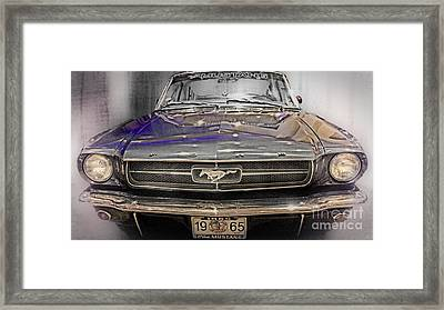 Classic Mustang Abstract Framed Print by Tom Gari Gallery-Three-Photography