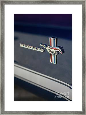 Classic Mustang Logo Closeup Framed Print by Mike Reid