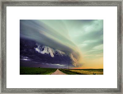 Classic Nebraska Shelf Cloud 024 Framed Print