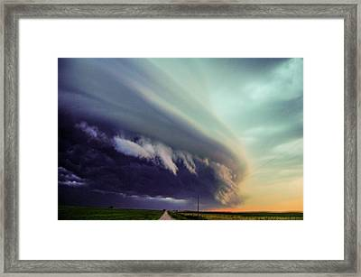 Classic Nebraska Shelf Cloud 027 Framed Print