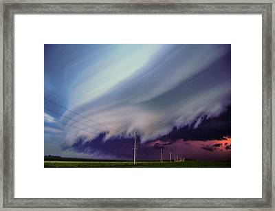 Classic Nebraska Shelf Cloud 028 Framed Print