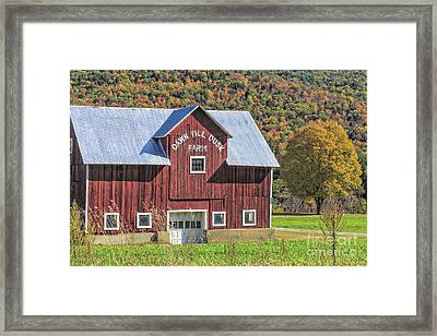 Classic New England Barn In Autumn Framed Print by Edward Fielding