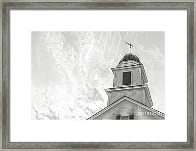 Classic New England Church Etna New Hampshire Framed Print by Edward Fielding