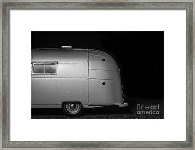 Classic Old Airstream Vintage Travel Camping Trailer Framed Print by Edward Fielding