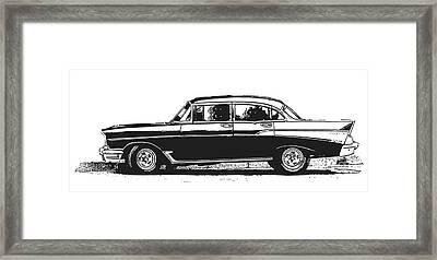 Classic Old Car Framed Print