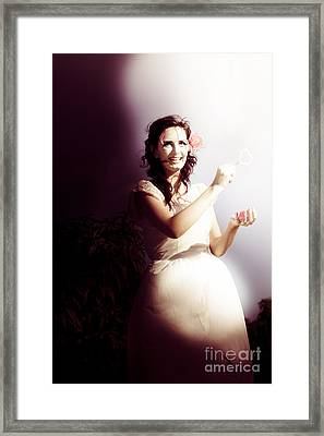 Classic Old Fashioned Woman Framed Print by Jorgo Photography - Wall Art Gallery