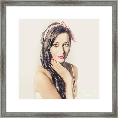 Classic Old Style Pin-up Girl Framed Print by Jorgo Photography - Wall Art Gallery