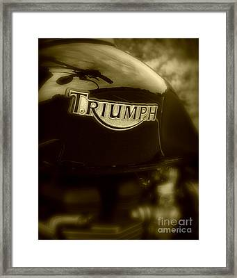 Classic Old Triumph Framed Print by Perry Webster