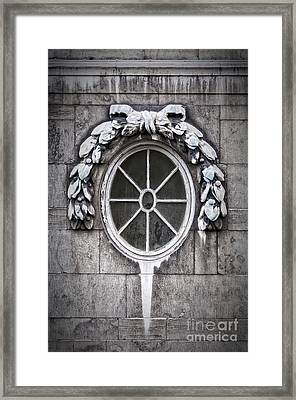 Classic Oval Window Framed Print