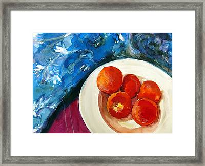 Classic Peaches Framed Print by Doranne Alden