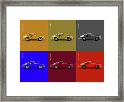 Classic Porsche 911 Colours Framed Print
