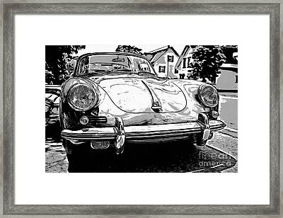 Classic P Graphic Style Framed Print by Edward Fielding