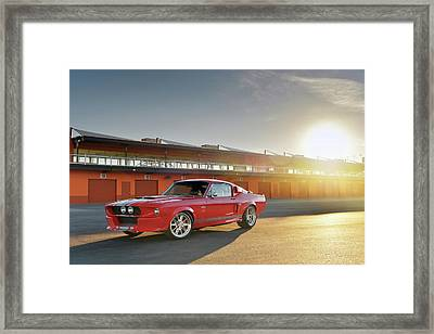 Classic Recreations Shelby Gt500cr Framed Print by Drew Phillips