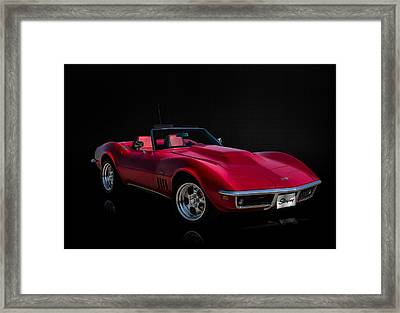 Classic Red Corvette Framed Print