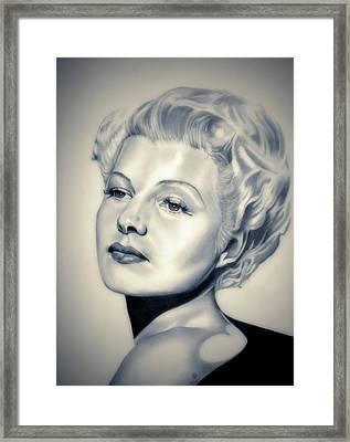 Classic Rita Hayworth Framed Print