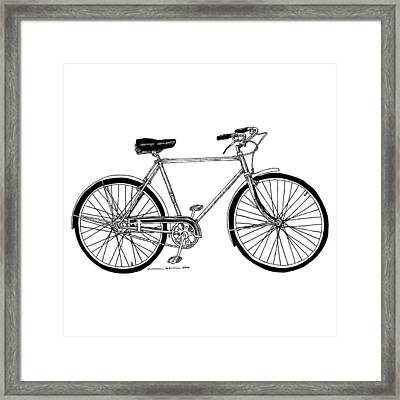 Classic Road Bicycle  Framed Print by Karl Addison