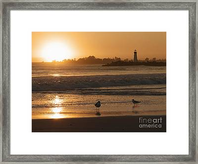 Classic Santa Cruz Sunset Framed Print by Paul Topp
