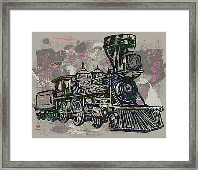 Classic Steam Train - New Pop Art Poster Framed Print
