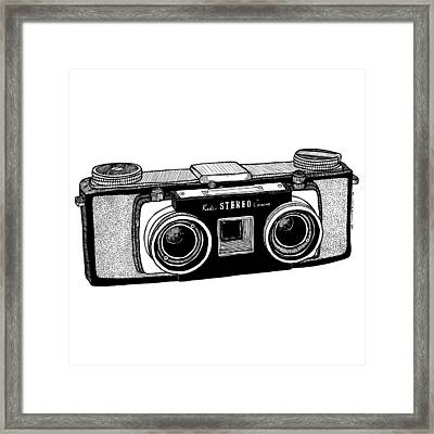 Classic Stereo Camera Framed Print