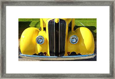 My Ride's Here Framed Print
