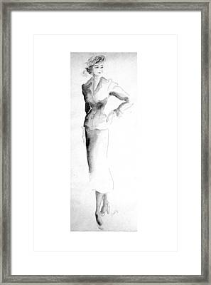 Classic Suit Framed Print by Beverly Solomon Design