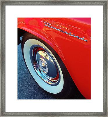 Classic T-bird Tire Framed Print