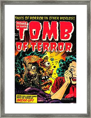 Classic Tomb Of Terror 15 Framed Print