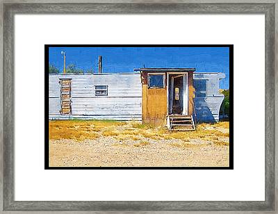 Framed Print featuring the photograph Classic Trailer by Susan Kinney