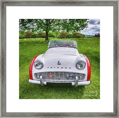 Classic Triumph Tr3a Framed Print