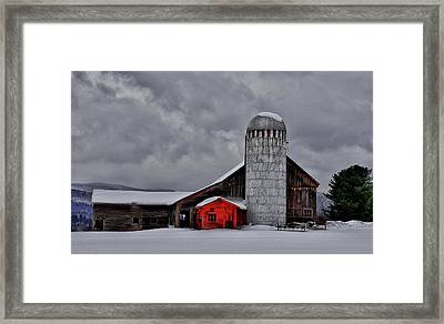 Classic Vermont Barn Framed Print by Nancy Marshall
