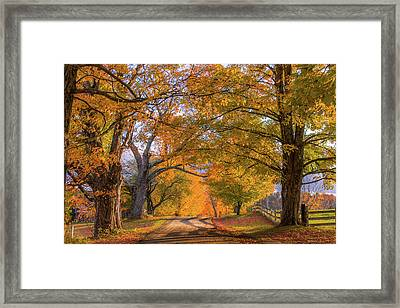 Classic Vermont Fall Framed Print