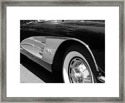 Classic Vette Framed Print by Jeff Lowe