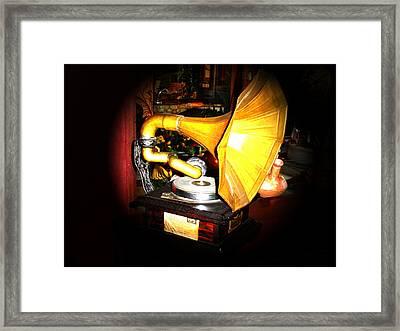 Classic Victor V Phonograph Framed Print