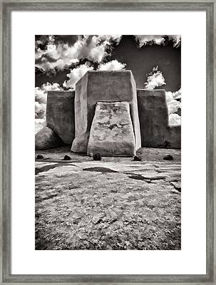 Classic View  In Black And White Framed Print
