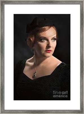 Classic Vintage Style Portrait Framed Print by Amanda Elwell