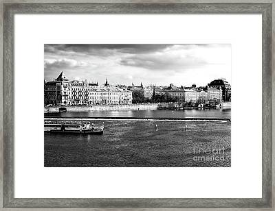 Framed Print featuring the photograph Classic Vltava River by John Rizzuto