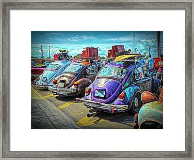 Classic Volkswagen Beetle - Old Vw Bug Framed Print