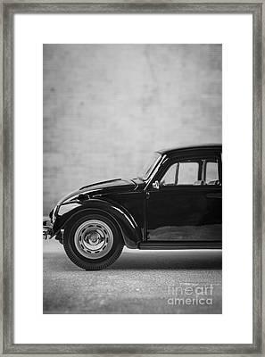Classic Vw Beetle Car Framed Print by Edward Fielding