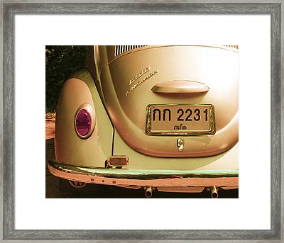 Classic Vw Beetle In Thailand Framed Print by Georgia Fowler