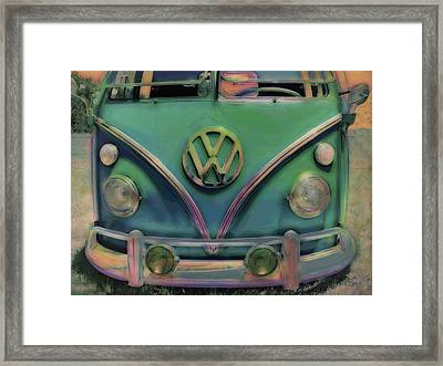 Classic Vw Bus Framed Print by Ann Powell